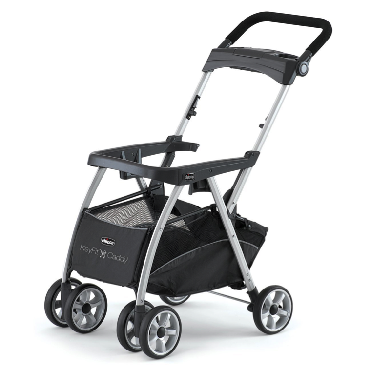 photo of stroller with single-piece handle