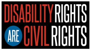 Image says disability rights are civil rights