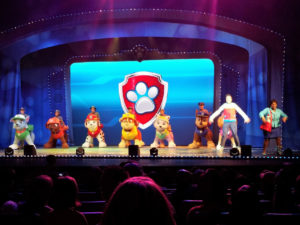 Photo of Paw Patrol on stage