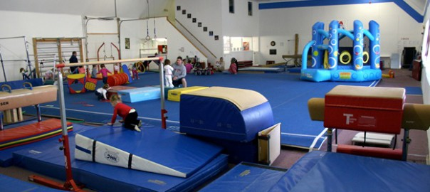 Photo of indoor play area with children playing