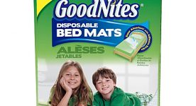 Goodnites disposable bed mats package